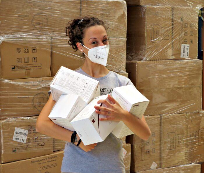 FFP2 masks boxes