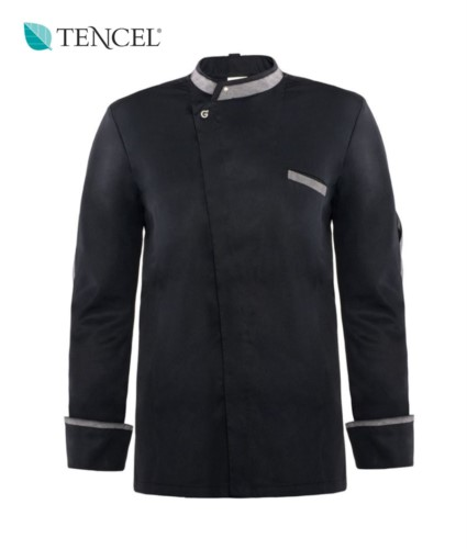 AG19P08G084 Two-tone Tencel Cook Jacket